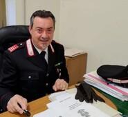Gli auguri di Gianluca Quadrini al luogotenente Quirico per il pensionamento.