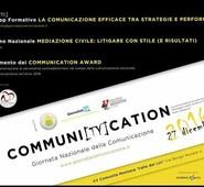 GIORNATA NAZIONALE COMUNICAZIONE, 'COMMUNICATION AWARD': ECCO CHI SARANNO I PREMIATI
